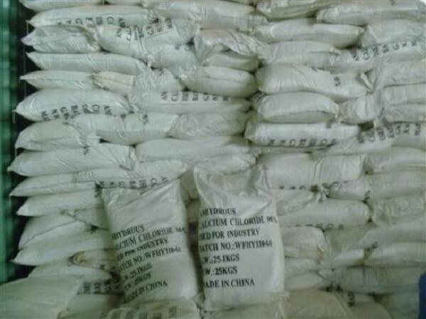 Canxiclorua được ứng dụng rộng rãi trong công nghiệp